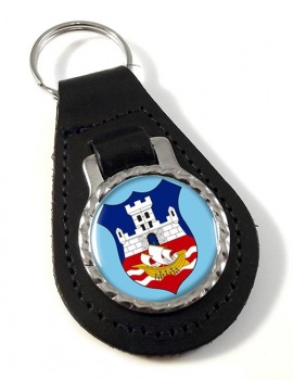 Belgrade  (Serbia)  Leather Key Fob