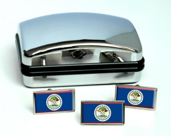 Belize Flag Cufflink and Tie Pin Set