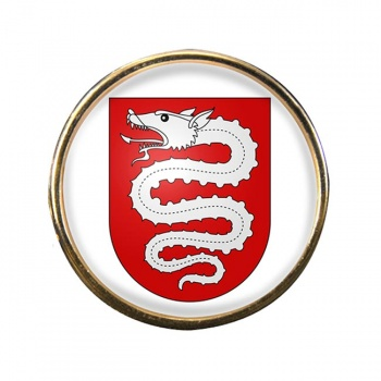 Bellinzona (Switzerland) Round Pin Badge