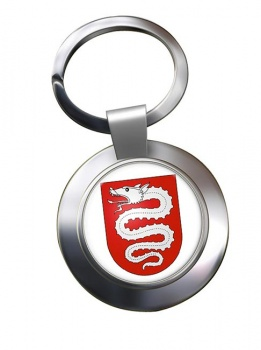 Bellinzona (Switzerland) Metal Key Ring