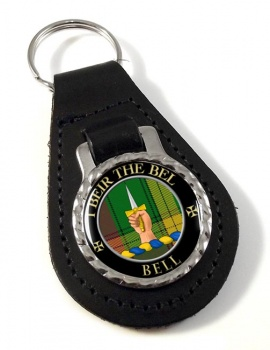 Bell of Kirkconnel Scottish Clan Leather Key Fob
