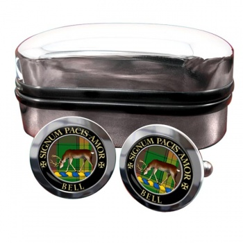 Bell of Provoschaugh Scottish Clan Round Cufflinks