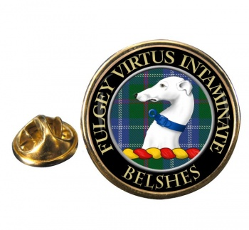 Belshes Scottish Clan Round Pin Badge
