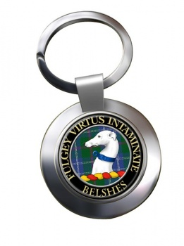Belshes Scottish Clan Chrome Key Ring