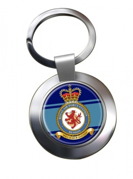 RAF Station Benson Chrome Key Ring