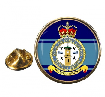 RAF Station Bentley Priory Round Pin Badge