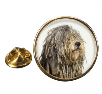 Bergamasco Shepherd Round Pin Badge