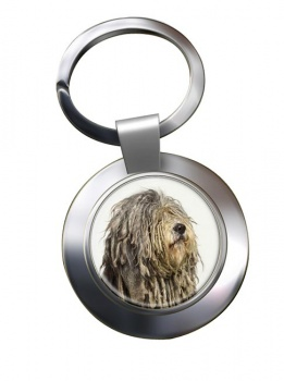 Bergamasco Shepherd Metal Key Ring