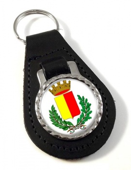 Bergamo (Italy) Leather Key Fob