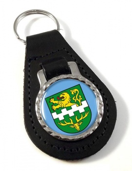 Bergisch Gladbach (Germany) Leather Key Fob