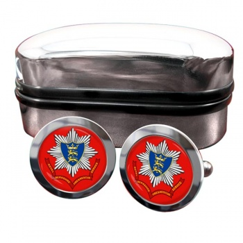 Royal Berkshire Fire and Rescue Round Cufflinks