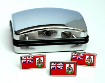 Bermuda Flag Cufflink and Tie Pin Set