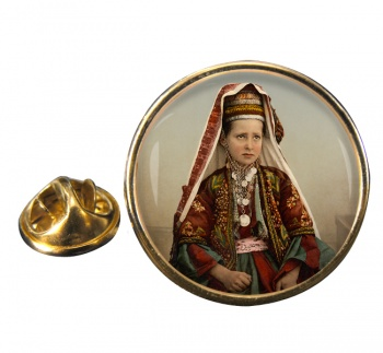 A Bethlehem Girl Round Pin Badge