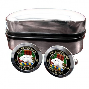 Bethune Scottish Clan Round Cufflinks