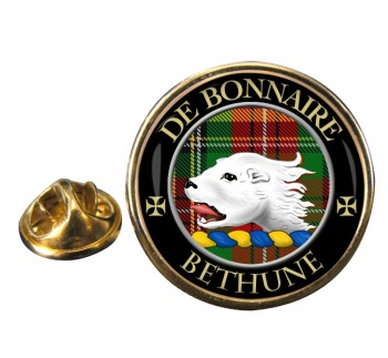Bethune Scottish Clan Round Pin Badge