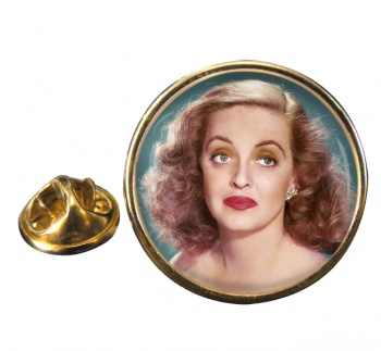 Bette Davis Round Pin Badge