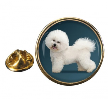 Bichon Frise Round Pin Badge