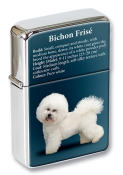 Bichon Frise Flip Top Lighter