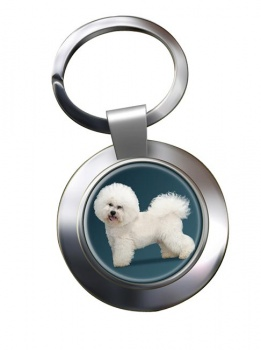 Bichon Frise Metal Key Ring
