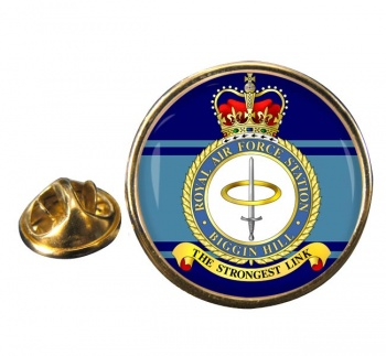 RAF Station Biggin Hill Round Pin Badge