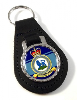 RAF Station Binbrook Leather Key Fob