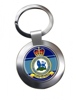RAF Station Binbrook Chrome Key Ring