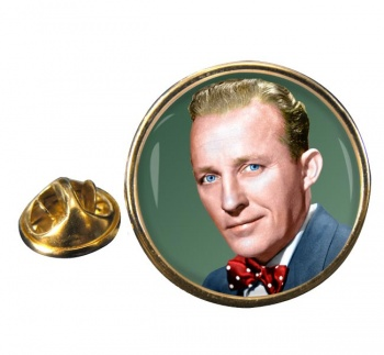 Bing Crosby Round Pin Badge