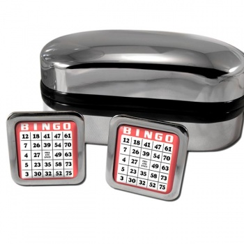Bingo Card Square Cufflinks