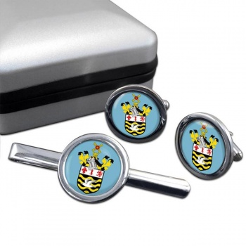 Blackpool (England) Round Cufflink and Tie Clip Set