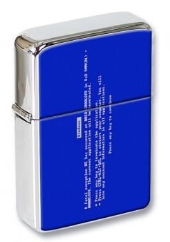 Blue Screen of Death Flip Top Lighter