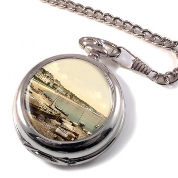 Boating Beach Dawlish Devon Pocket Watch