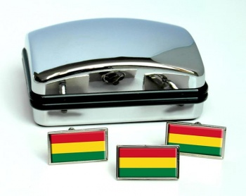 Bolivia Flag Cufflink and Tie Pin Set