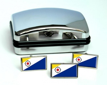 Bonaire (Netherlands) Flag Cufflink and Tie Pin Set