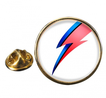 Bowie Round Pin Badge