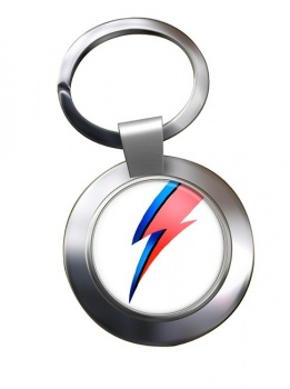 Bowie Chrome Key Ring