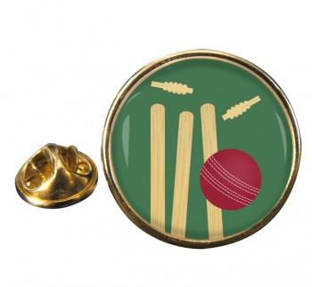 Bowled (Cricket) Round Pin Badge
