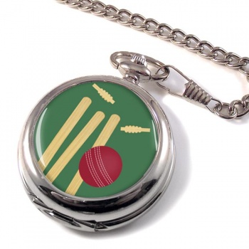 Bowled (Cricket) Pocket Watch