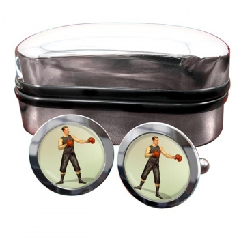 Boxing World Champion Round Cufflinks