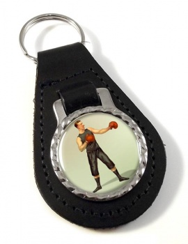 Boxing World Champion Leather Key Fob