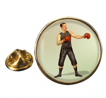 Boxing World Champion Round Pin Badge