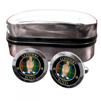 Boyd Scottish Clan Round Cufflinks