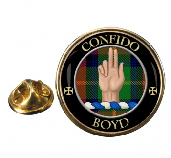Boyd Scottish Clan Round Pin Badge