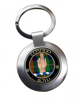 Boyd Scottish Clan Chrome Key Ring