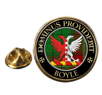 Boyle Scottish Clan Round Pin Badge