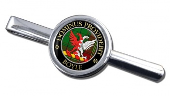 Boyle Scottish Clan Round Tie Clip