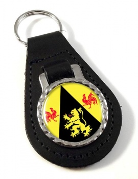 Brabant wallon (Belgium) Leather Key Fob