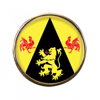 Brabant wallon (Belgium) Round Pin Badge