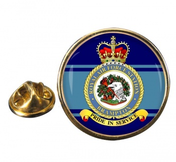 Brampton Round Pin Badge
