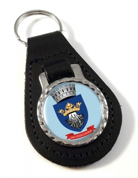 Brasov (Romania) Leather Key Fob