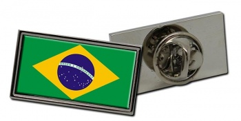 Brazil Brasil Flag Pin Badge